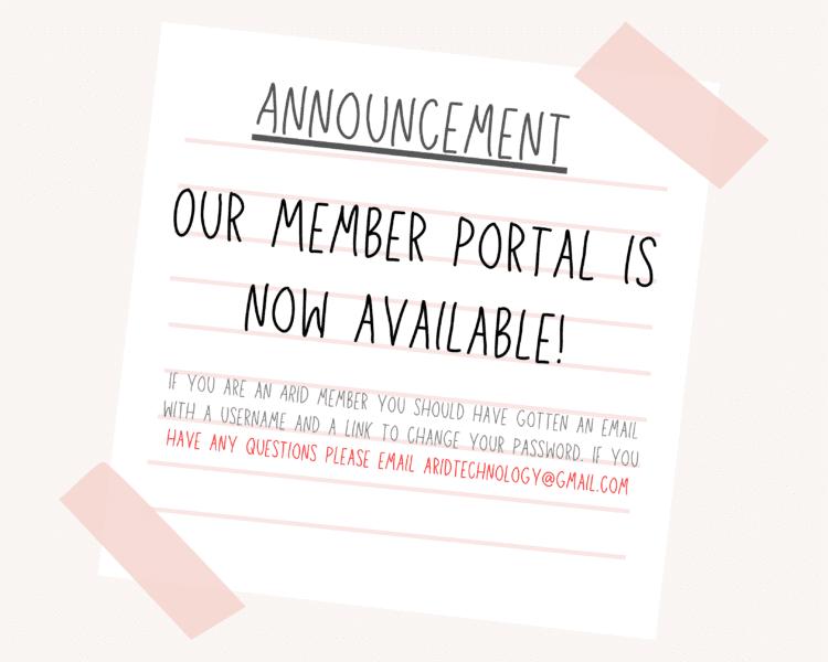Member Portal-ARID